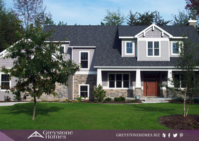 bungalow mission style prestige cultured ledgestone grey house